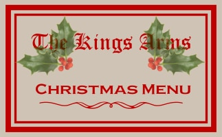 Kings Arms Christmas menu
